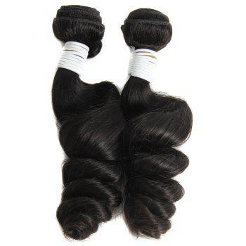 Stylish Fluffy Loose Wave Brazilian Human Hair Natural Black 1 Piece/Lot Hair Weft