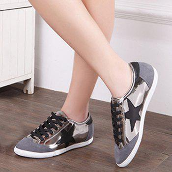 Stylish Star and Splicing Design Women's Athletic Shoes - 38 38