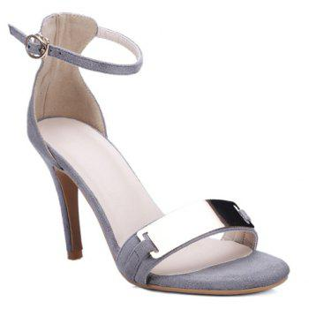 Stylish Flock and Metal Design Women's Sandals