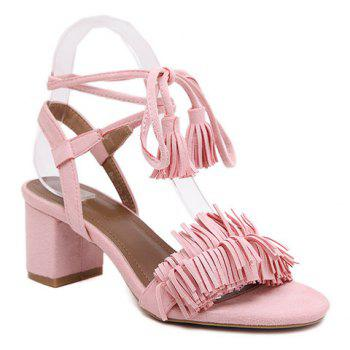 Fashionable Solid Colour and Fringe Design Women's Sandals