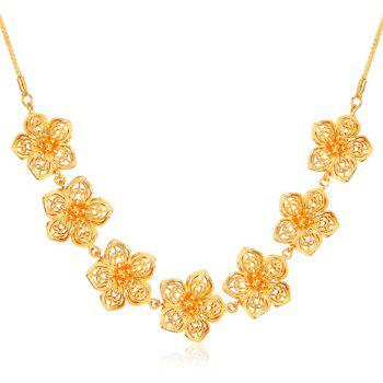 Hollow Out Blossom Shape Necklace
