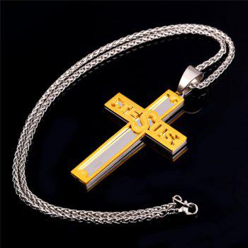 Punk Style Jesus Cross Shape Pendant Necklace For Men