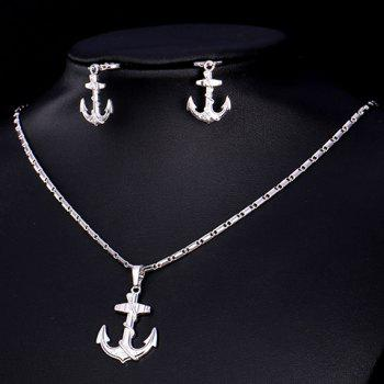 A Suit of Anchor Alloy Necklace and Earrings