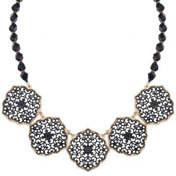 Beads Faux Crystal Hollow Out Necklace