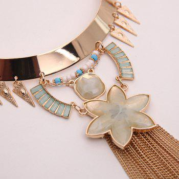 Floral Triangle Chains Necklace - GOLDEN
