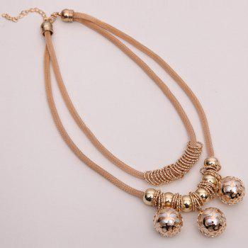Multilayered Beads Necklace - GOLDEN