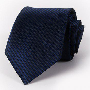 Stylish Men's Solid Color Twill Jacquard Tie