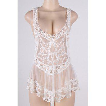 See-Through Crochet Swimsuit Cover-Up