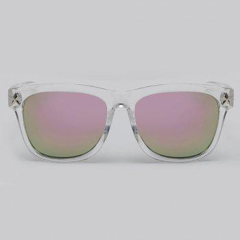 Chic Small Five-Pointed Star Shape Embellished Women's Transparent Sunglasses - PINK PINK