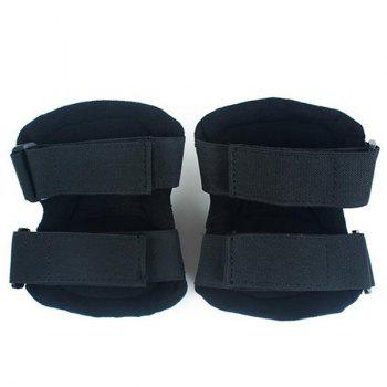 4PCS High Quality Outdoor Cycling Roller Skating Climbing Elbow Knee Guard Safety Protector - BLACK