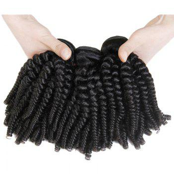 6A Brazilian Virgin Hair Stunning Natural Black 1 Piece/Lot Funmi Curly Women's Hair Weft - BLACK 14INCH