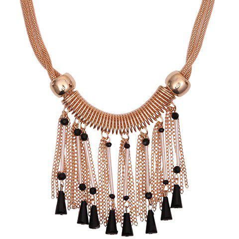 Vintage Triangle Chains Beads Necklace For Women