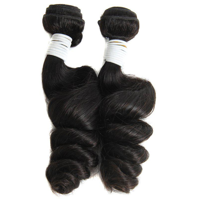 Stylish Fluffy Loose Wave 100 Percent Brazilian Human Hair Natural Black 1 Piece/Lot Hair Weft For Women