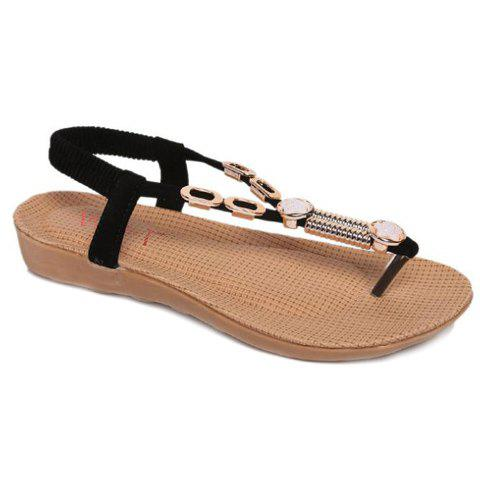 Casual Flip Flop and Metal Design Women's Sandals