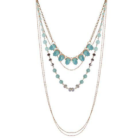 Stylish Multilayer Faux Crystal Beads Alloy Necklace For Women