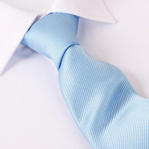 Stylish Men's Various Color Satin Tie - LIGHT BLUE