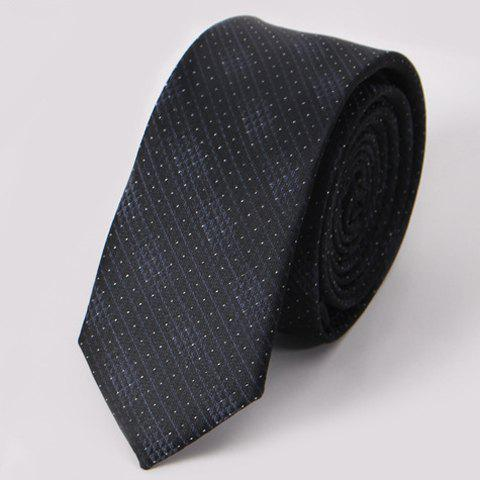 Stylish Men's Small Dots and Twill Design Black Tie