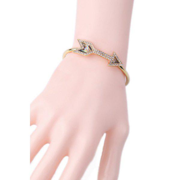 Chic Rhinestone Arrow Golden Bracelet For Women