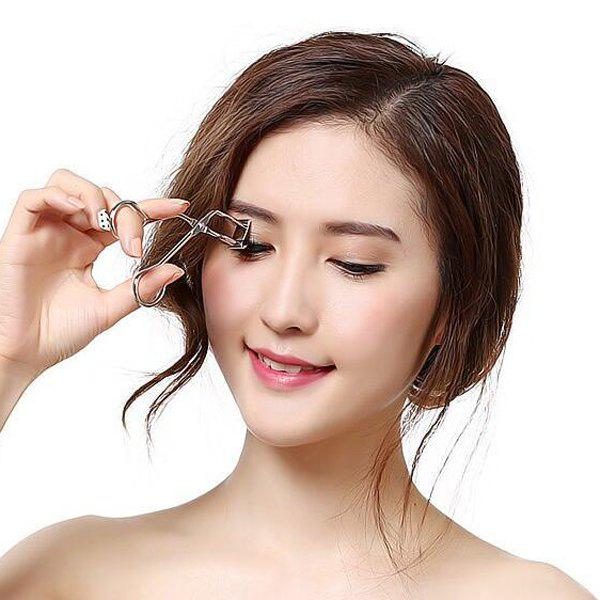 Cosmetic Makeup Tool Stainless Steel Local Eyelash Curler - SILVER