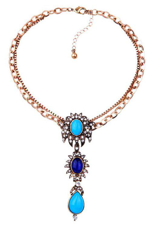 Chic Faux Gem Ethnic Style Necklace For Women