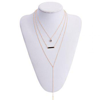Simple Multi-Layered Tassel Women's Necklace