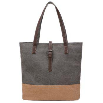 Simple Canvas and Buckle Design Women's Shoulder Bag - GRAY GRAY