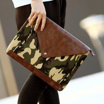 Trendy Covered Closure and Camouflage Pattern Design Men's Clutch Bag -  COLORMIX