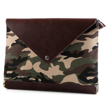 Trendy Covered Closure and Camouflage Pattern Design Men's Clutch Bag - COLORMIX COLORMIX
