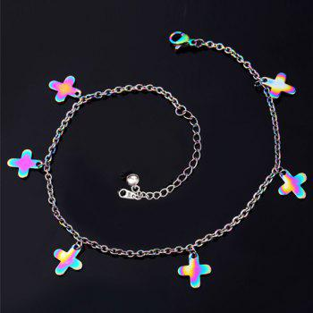 Gorgeous Colored Cross Anklet For Women - COLORMIX COLORMIX