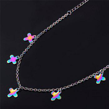 Gorgeous Colored Cross Anklet For Women -  COLORMIX
