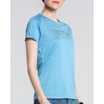 Active Pure Color Short Sleeve  Thin Soft Outdoor Shirt For Women - M M