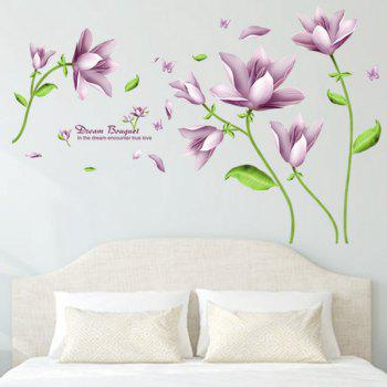 Chic Flower Bouquet Pattern Wall Sticker For Livingroom Bedroom Decoration - COLORMIX