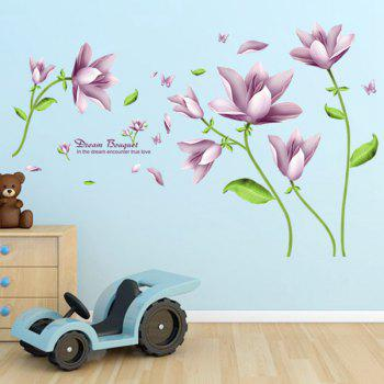 Chic Flower Bouquet Pattern Wall Sticker For Livingroom Bedroom Decoration