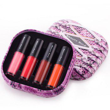 Cosmetic 4 PCS 4 Colours Long Lasting Moisturize Lip Gloss Gift Box - COLORMIX