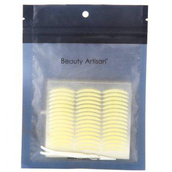 Cosmetic One Bag Slender Breathable Waterproof Invisible Double Eyelid Stickers with Tweezer