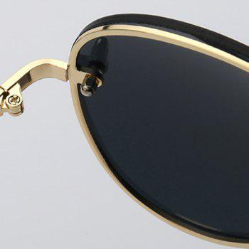 Fashion Small Screw Embellished Golden Sunglasses For Unisex Aviator -  BLACK