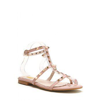 Casual Rivet and Flat Heel Design Sandals For Women
