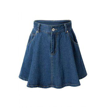 Chic High-Waisted A-Line Women's Denim Skirt