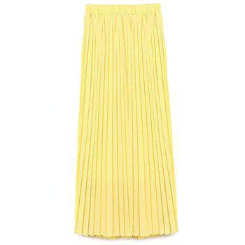 Stylish High Waist A-Line Solid Color Chiffon Women's Skirt