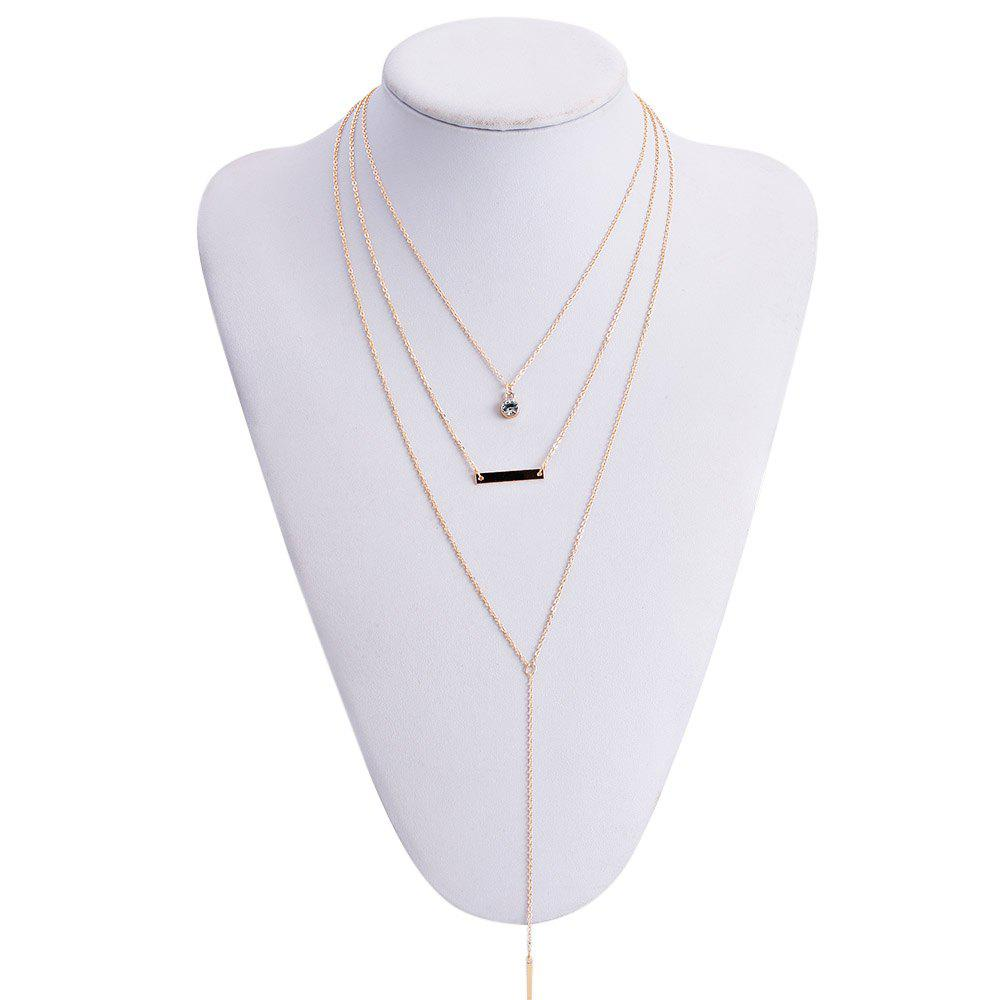 Simple Multi-Layered Tassel Women's Necklace - GOLDEN