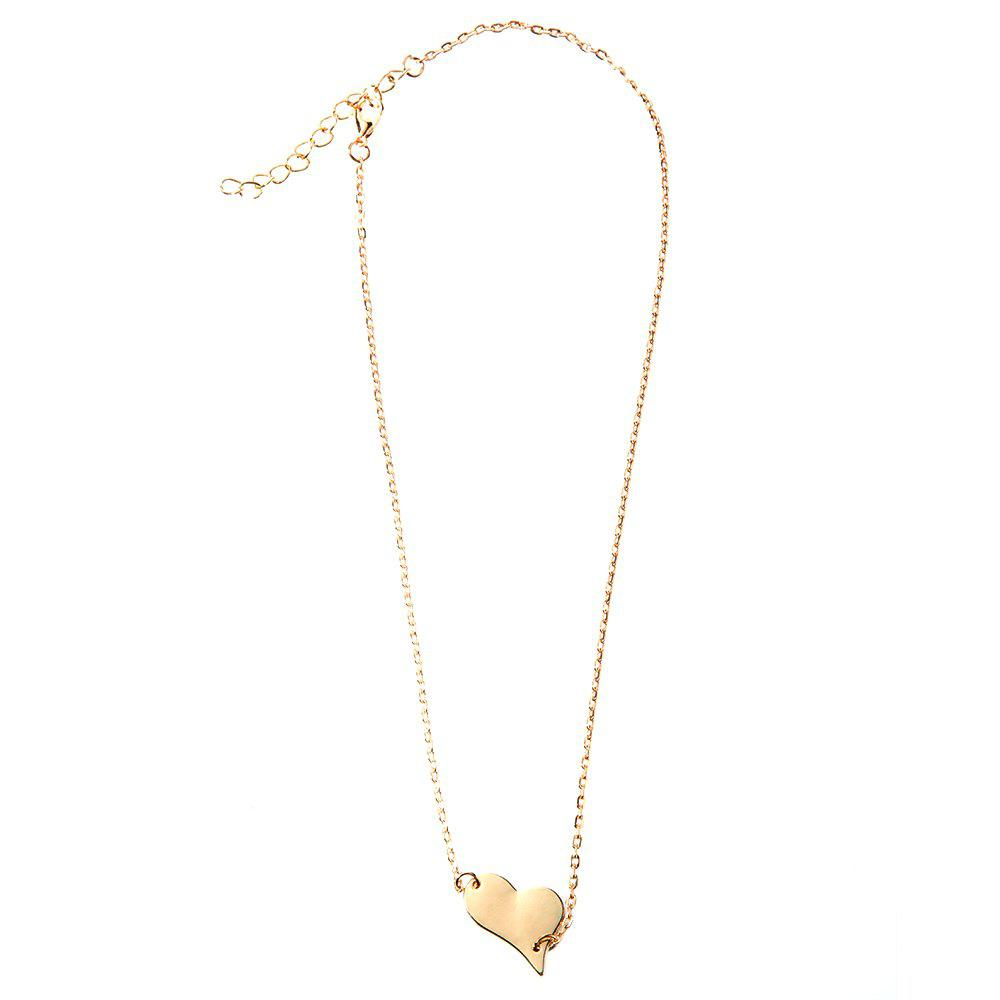 Sweet Cute Asymmetric Heart Design Necklace For Women