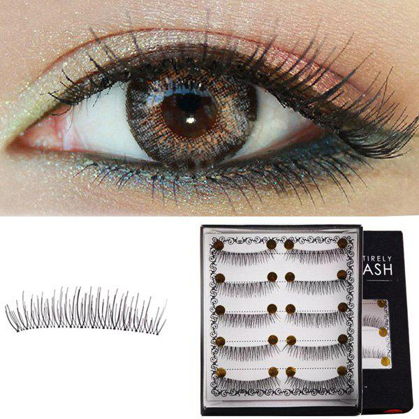 Cosmetic 5 Pairs Lengthening Soft Handmade False Eyelashes