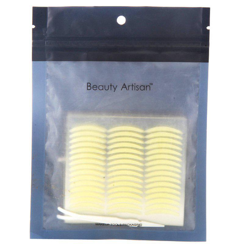 Cosmetic One Bag Slender Breathable Waterproof Invisible Double Eyelid Stickers with Tweezer - YELLOWISH PINK