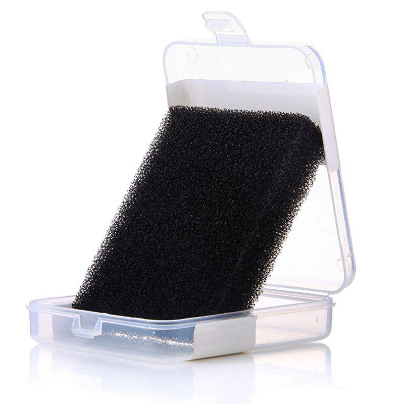 Cosmetic Cleaning Tool Makeup Brushes Cleansing Sponge with Box - BLACK