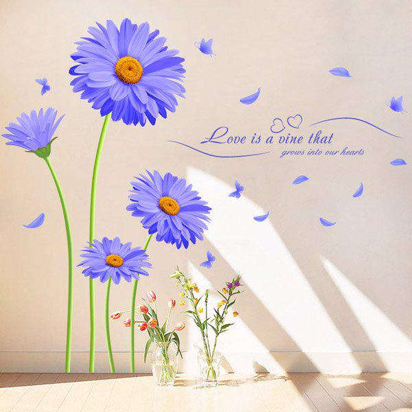 Chic Chrysanthemum Pattern Wall Sticker For Livingroom Background Bedroom Decoration - COLORMIX