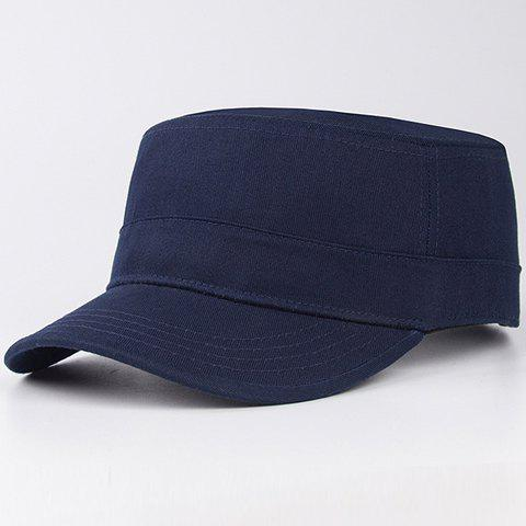Stylish Solid Color Men's Military Hat - DEEP BLUE