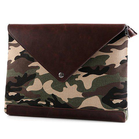 Trendy Covered Closure and Camouflage Pattern Design Men's Clutch Bag