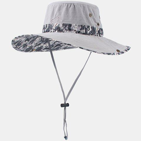 Chic Camouflage Pattern Drawstring Women's Sun Hat