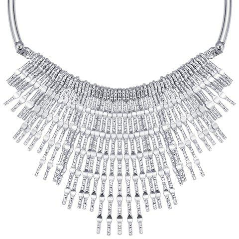 Gorgeous Embossed Long Strips Tassel Necklace For Women