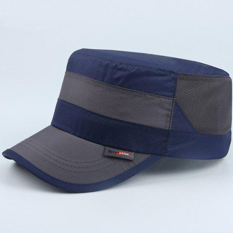 Stylish Water Proof Outdoor Sport Wide Striped Military Hat - CADETBLUE